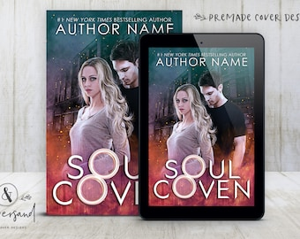 "Premade Digital eBook Book Cover Design ""Soul Coven"" Paranormal Romance Urban Fantasy YA Young New Adult Fiction"