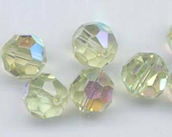 Twelve Swarovski crystals: art 5000 - 10 mm - cantaloupe AB