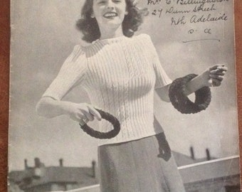 Booklet patons 1940s 1930s knitting patterns. Book no 170 Vintage knitting pattern book