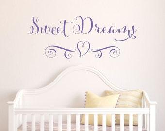 Sweet Dreams Wall Decal // Nursery Wall Decal // Baby Wall Decal // Sweet Dreams Sign // Sweet Dream Art // Nursery Decor // Sweet Dreams