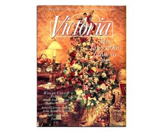 1995 Victoria Christmas Magazine, Magazine de Victoria, Vintage victorien NewYorkMarketplace collection Victoria Magazine, Magazine de Noël,