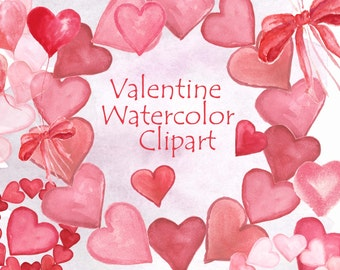 Valentine Hearts watercolor, Valentines Clipart, Love Clipart Hearts, Love Clipart, Valentine Hearts PNG