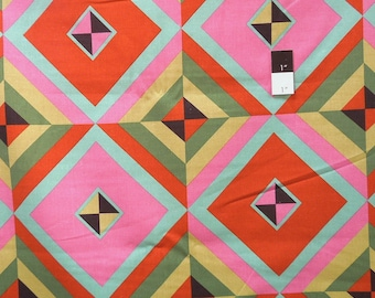 Amy Butler LIAB04 Hapi Sky Pyramid Caramel Linen & Cotton Blend Fabric By The Yard