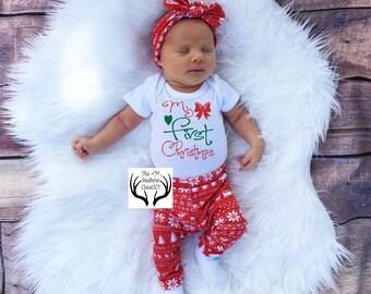 Baby Girl Christmas Outfit,Baby Christmas Outfit, Girl Coming home outfit,Girls Christmas,First Christmas Outfit,Newborn Christmas Outfit