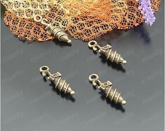 bronze 24 * 5.5 MM Rainbow umbrella D21894 20 charms