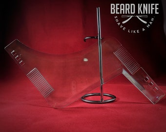 Beard Shaping Tool. See through transparent barber tool clean lines