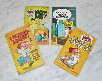 Lot of 4 Vintage Family Circus Paperback Comic Strip Books from 80's