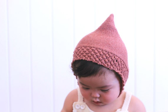 Knitting pattern baby pixie hat baby toddler pixie bonnet