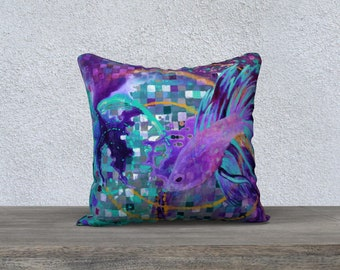 """Abstract Beta Pillowcover 18"""""""