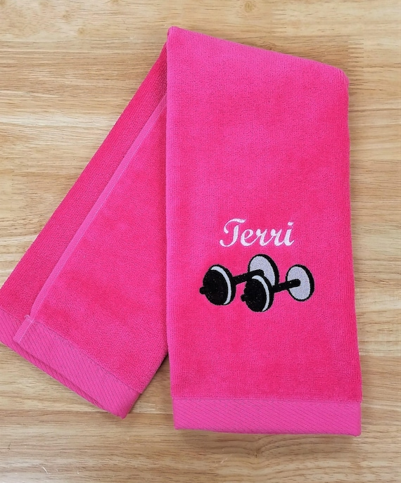 Sport Towel Personalized Gym Exercise Towel Embroidered