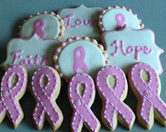Breast Cancer Awareness Sugar Cookies