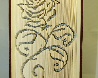 """Carving book """"rose"""""""