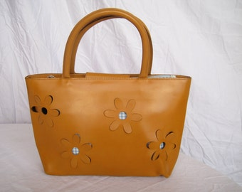 Vintage BERGE Genuine Leather Handbag Purse Made in Italy