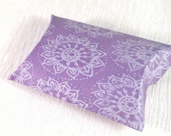 Purple gift box, purple gift wrap, purple gifts for her, pillow boxes, pillow box favour, missing you gift, gift box small,