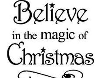 Believe in the Magic of Christmas Cross Stitch Pattern PDF
