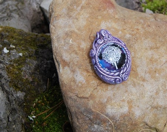 Polycay pendant featuring Tree of Life