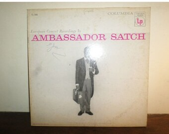 Vintage 1956 Vinyl LP Jazz Record Ambassador Satch Louis Armstrong Very Good Condition Six Eye 9909
