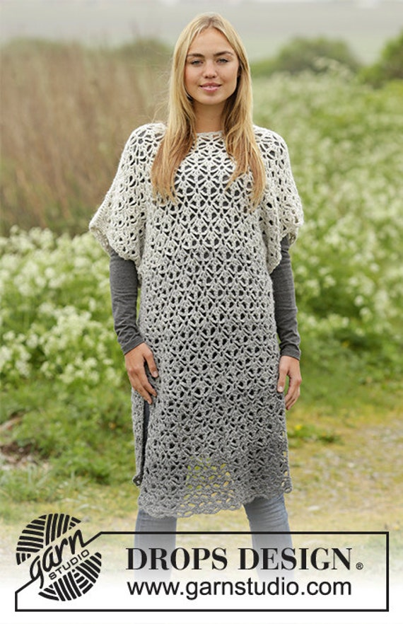 autumn winter Handmade SIZE crochet COLOR tunic CHOOSE clothing Crochet dress and alpaca women's ngqHZxTYA