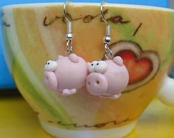 Little Pink Pigs Handmade Polymer Clay
