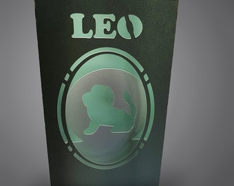 Leo Zodiac box card with envelope template