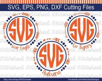 Auburn svg, AU Football svg, Auburn Football, War Eagle svg, Tigers, SVG, Png, Eps, Dxf, Silhouette Cutting Files