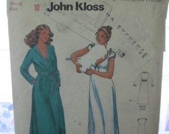 PATTERN BUTTERICK 6370 John Kloss / woman size: 10 VINTAGE
