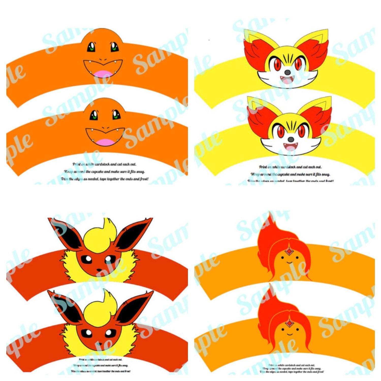 Pokemon 4 Pack Flareon Fennekin Charmander Adventure Time # Muebles Pokemon