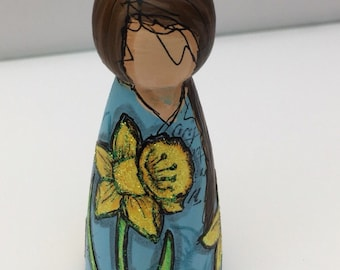 Miss March peg doll