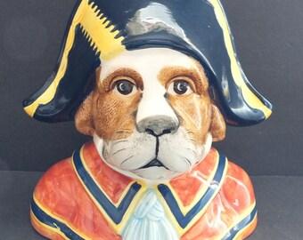 Sigma Tastesetter Dog Wearing Tricorne Hat Coin Bank
