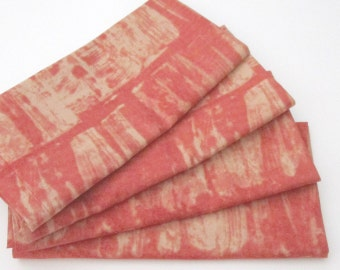Large Cloth Napkins - Set of 4 - Dinner, Table, Everyday, Wedding - Red Orange, Beige, Peach, Pale Gold