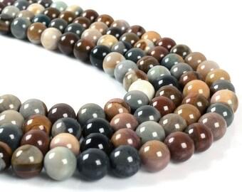 "8MM036 8mm Succor creek jasper round ball loose gemstone beads 16"""