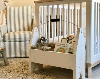 Toddler's Tool Box, Nursery Decor, Toy Storage, Book Shelf