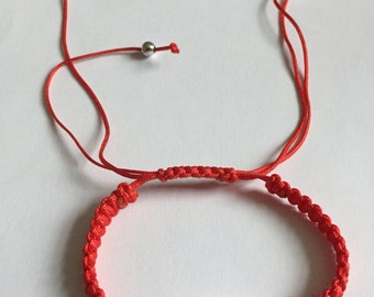 Adjustable red love bracelet
