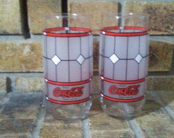 Coca Cola Frosted Glasses