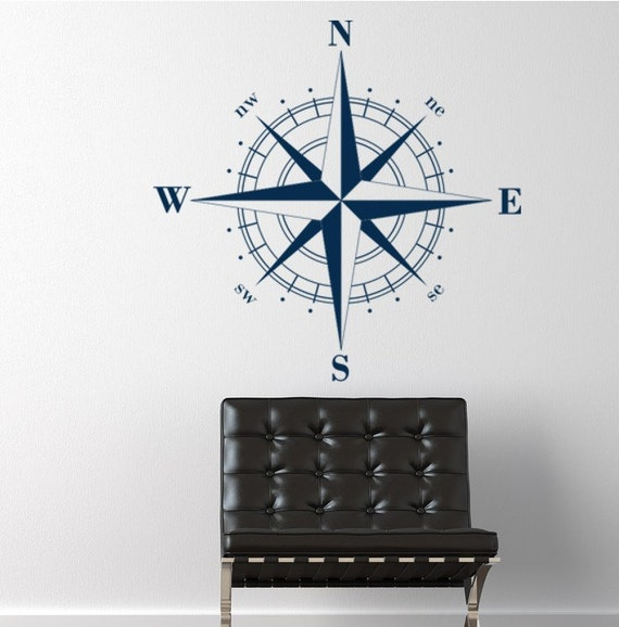 Compass Rose Nautical Vinyl Wall Decal, Christmas decals, Holiday gift ideas, Fathers Day, men's gifts, nautical gifts, fathers day gifts, g