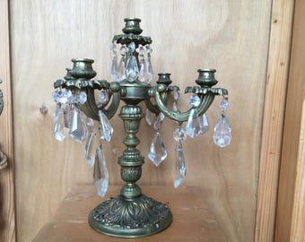 Antique Candle Holder made of bronze, decorative interior for home, shops, restaurant...