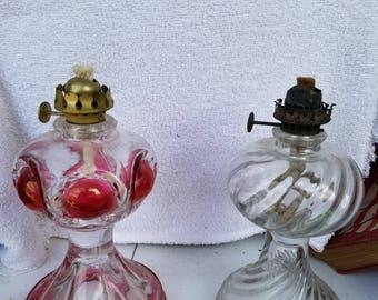 Set of 5 Antique Kerosene lamps