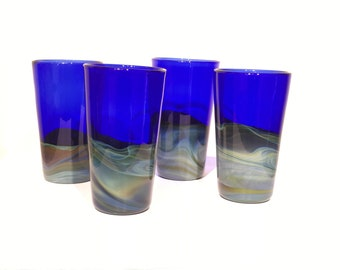 Hand-blown Skyline Tumblers