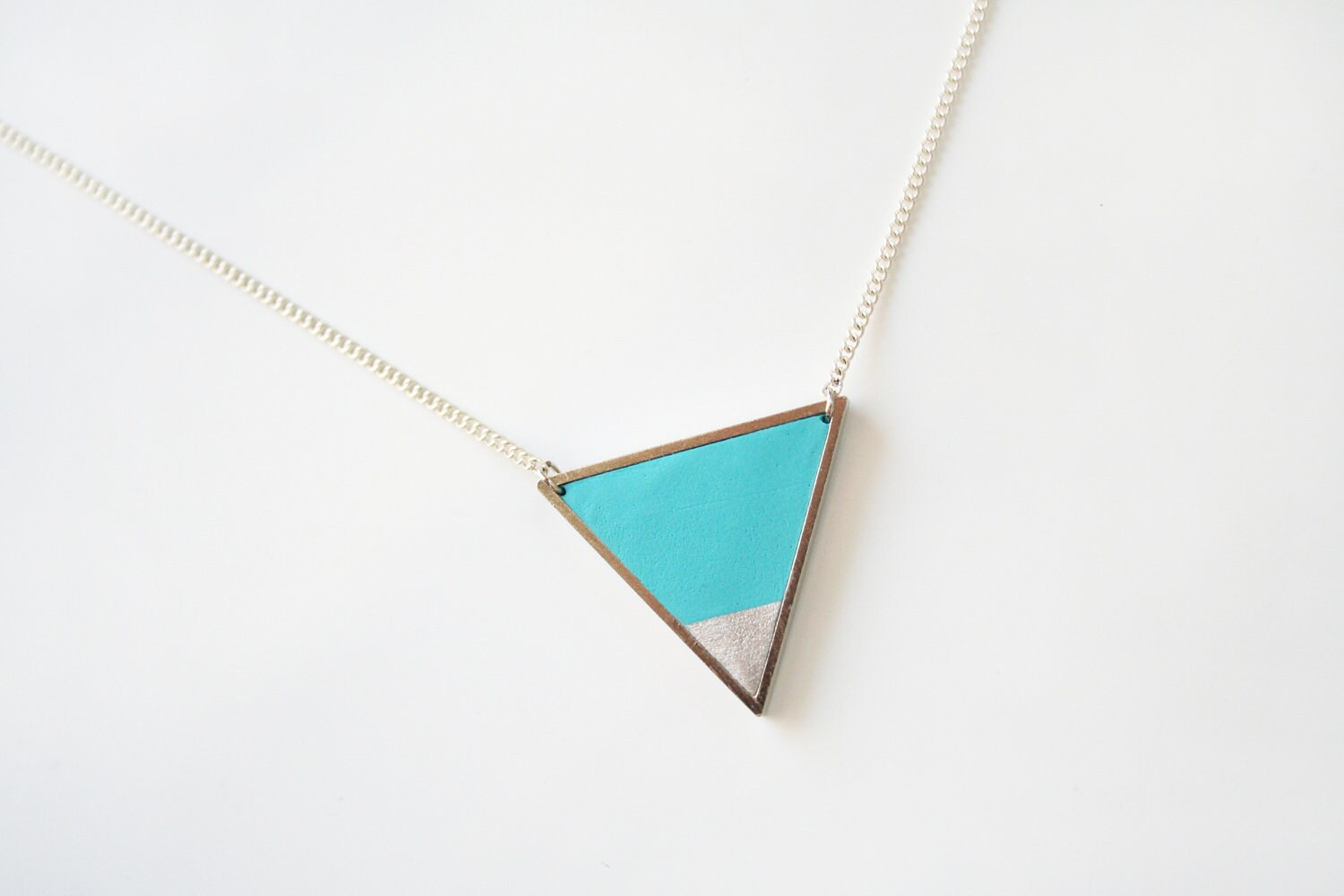 fullxfull listing light triangle zoom blue dipped color necklace silver geometric il