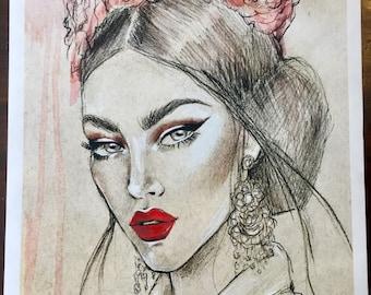 Lulutha Limited Edition Fashion Illustration Fine Art Print