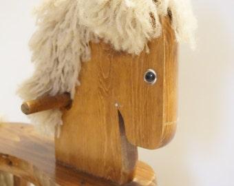 Horse Nursery Decor - Wooden Rocking Horse - Vintage Rocking Horse - Horse Decor - Vintage First Birthday - Riding Horse - Wooden Horse Toy