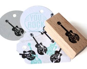 Guitar stamp - Gretsch - rubber stamp