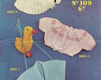 Continental Coaties Vintage Baby Knitting Pattern 402