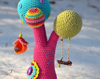 Crochet pattern - Rainbow tree - by VendulkaM, digital crochet pattern, amigurumi, DIY, pdf