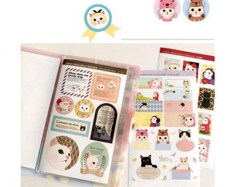 Sticker - Choo Choo Cat Sticker Pack - Point Sticker | Kitty Cat Stickers | Cat Series | Gift Ideas