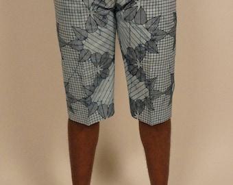 ORTTU Summer Combat Mens Shorts - SUMMER SALE - Stretchy Jersey Oversized Fit Cotton Shorts - Award Winning Designer Clothing - White Gs2NwzbEV