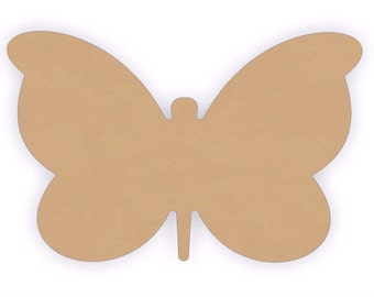 "MDF Wood Butterfly Craft Cutout Shapes - Sizes 6"" to 12"""