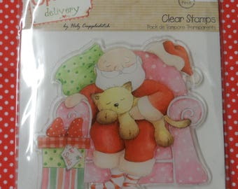 Special Delivery Clear Stamp Snoozing Santa Design Approx. 95mm x 90mm
