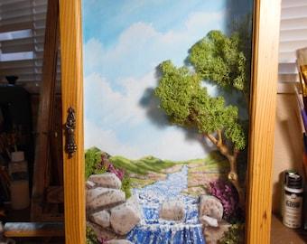 Original Dimensional Shadow Box Painting