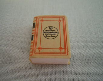 Miniature Book ~ Dictionary ~ Webster's Dictionary ~ Vintage ~ Library ~ Miniature ~ Fairy Garden ~ Dollhouse ~ Accessories